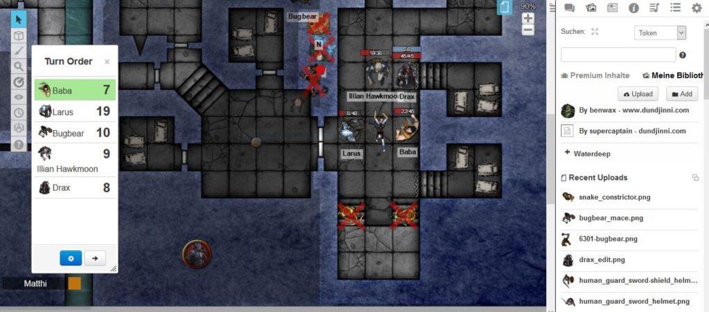 Online Rollenspiele spielen über das virtuelle Tabletop-Tool Roll20